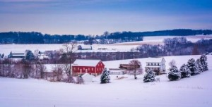 Even when the fields are covered in a blanket of snow the farmer is planning the harvest.